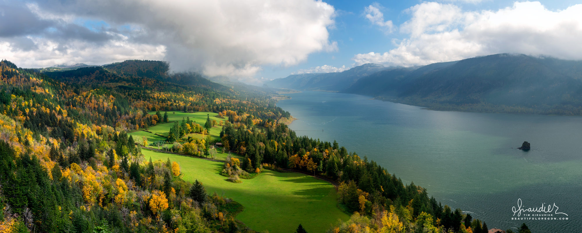 Columbia River Gorge Skamania County Washington State