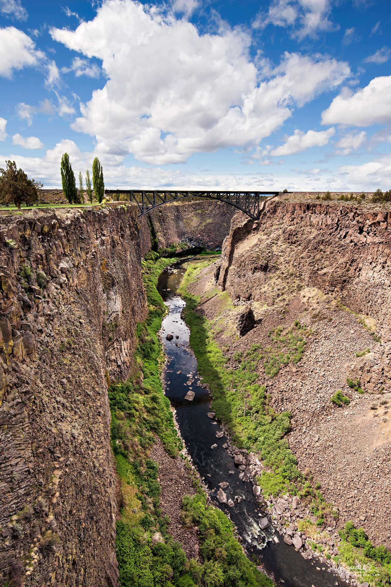 View of Crooked River Gorge from the Crooked River High Bridge. Peter Skene Ogden Wayside State Park, Central Oregon landscape photography