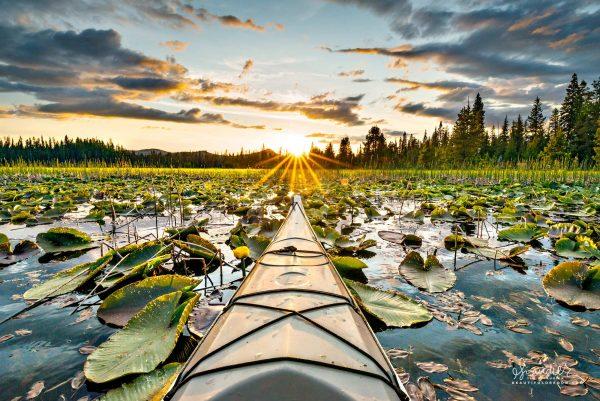 Sunset Paddle on Hosmer Lake. Central Oregon Cascades, Deschutes National Forest