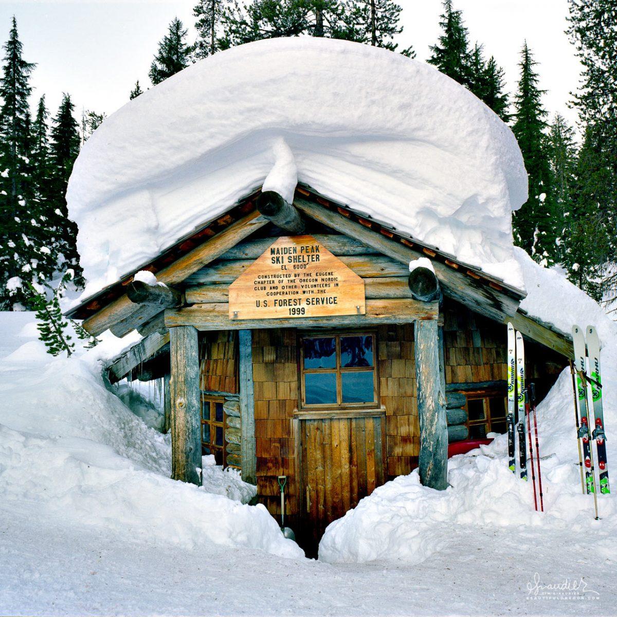 Maiden Peak Cabin Oregon backcounty ski shelter