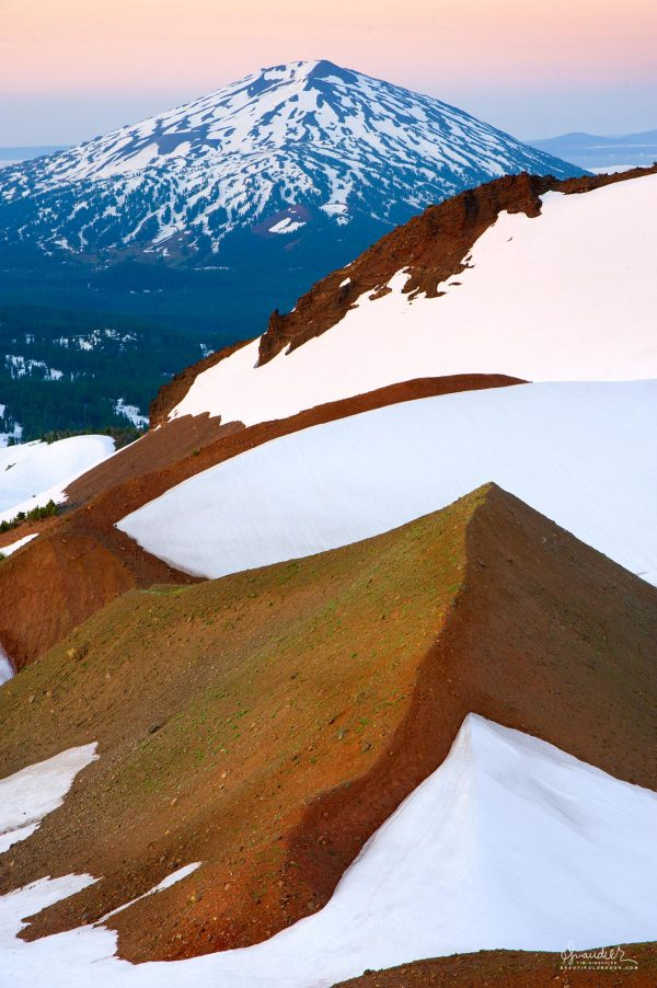 Mount Bachelor and the Broken Top moraine, Central Oregon Cascades