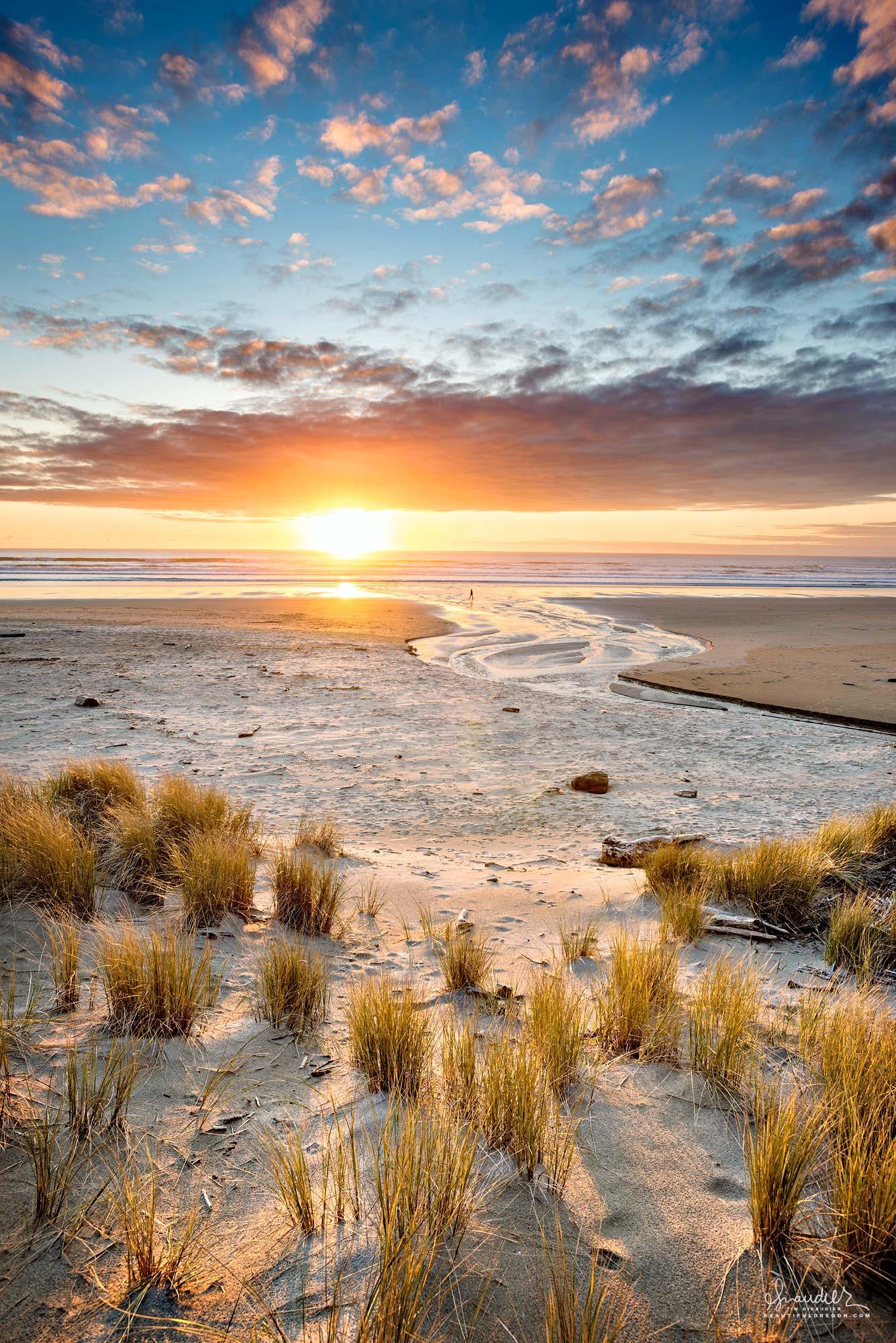 Sunset at Neahkahnie Beach North Oregon Coast