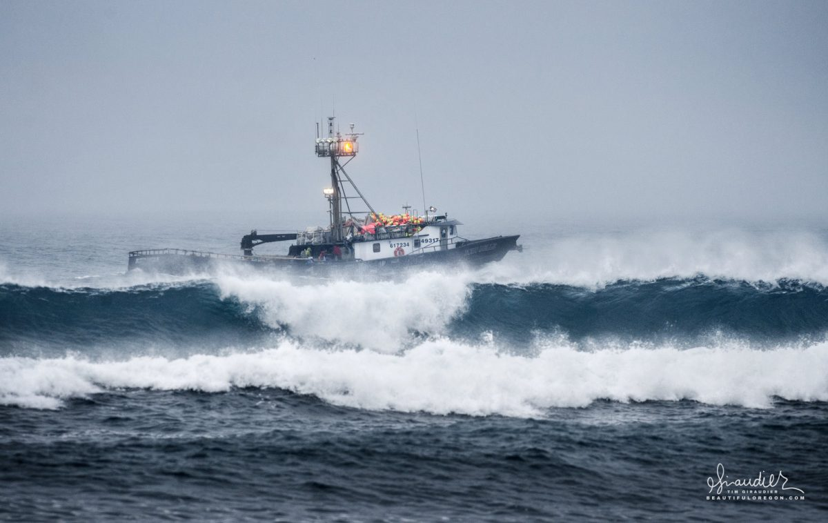 The 127 tonne Crabber F/V Echo Belle. Oregon Dungeness Crab fishery