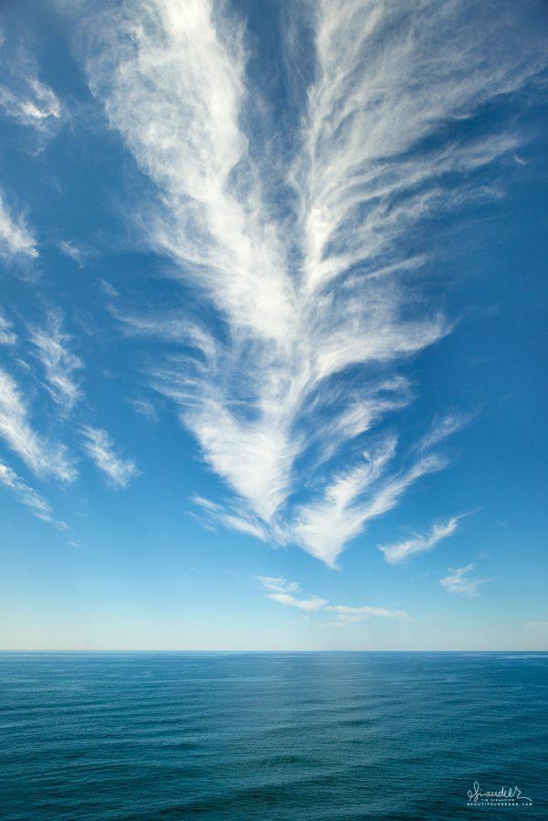 Beautiful blue sky day in April along the Oregon Coast. Heceta Head, Lane County.