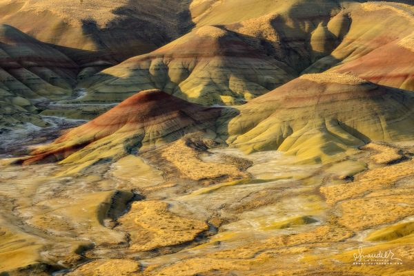 Soft light on the Painted Hills. John Day Fossil Beds National Monument, Wheeler County, East Oregon.