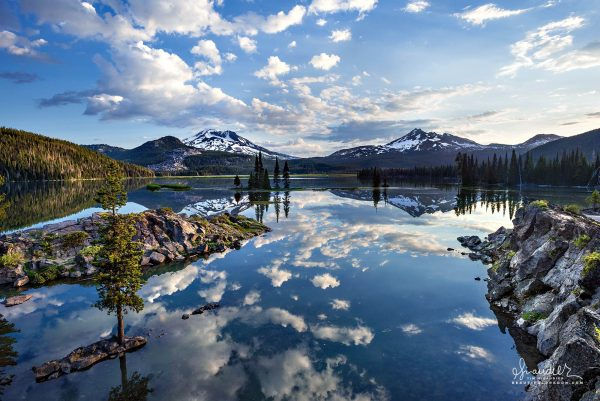 Sparks Lake, South Sister, Broken Top, Central Oregon Cascades, Deschutes National Forest