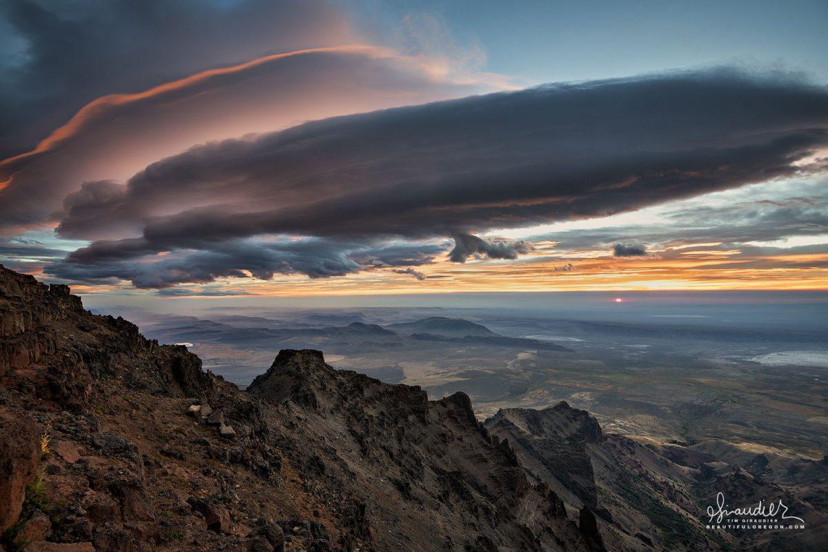Steens Mountain and Alvord Desert lenticular cloud