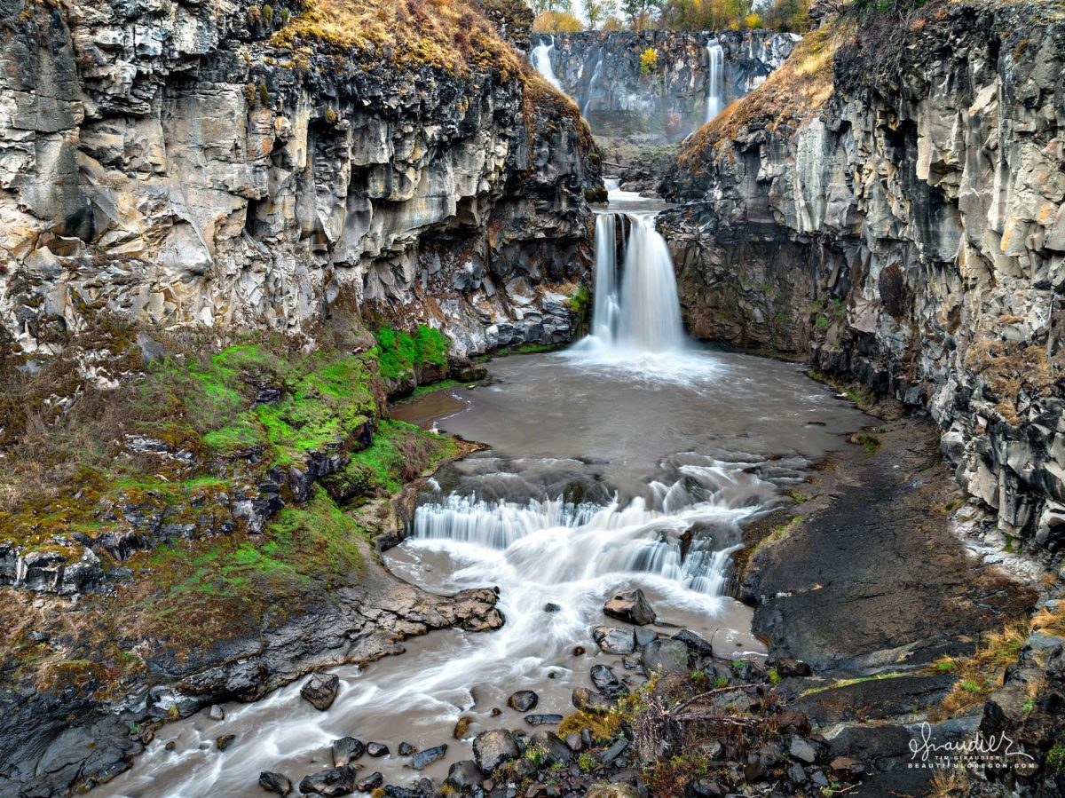 White River Falls State Wayside, located 35 miles south of The Dalles near Tygh Valley, Wasco County, Eastern Oregon landscape photography