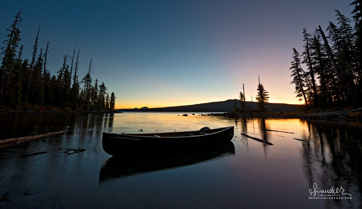 Waldo Lake canoe camping Central Oregon Cascades