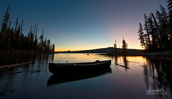 Waldo Lake canoe camping Central Oregon Cascades