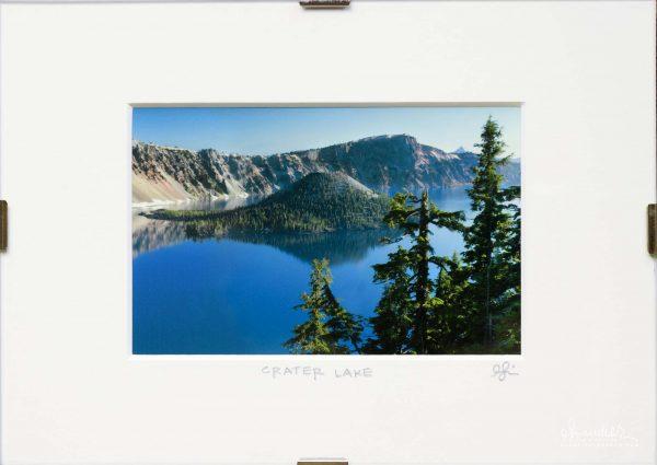 Wizard Island and Crater Lake National Park. Klamath County, Oregon Cascades.