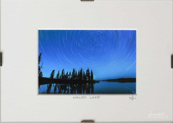 Star Trails Over Waldo Lake, Central Oregon Cascades