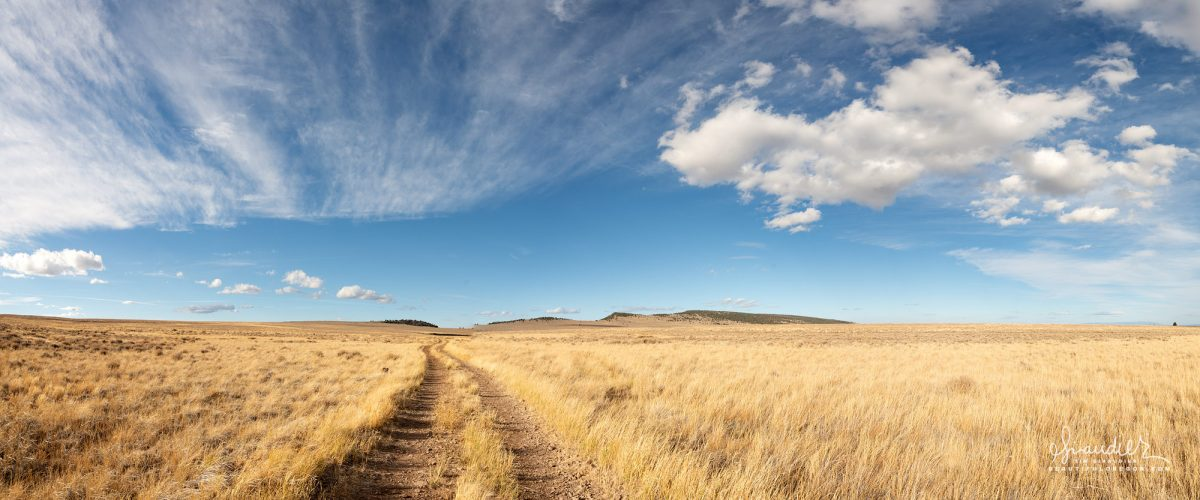 On the road to Petroglyph Lake, Hart Mountain National Antelope Refuge. Lake County, Eastern Oregon. Panorama landscape photography of Oregon and the Pacific Northwest.