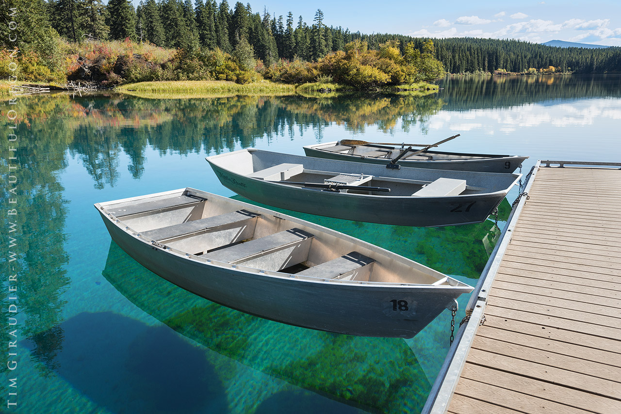 Clear lake rowboats mckenzie river oregon cascades for Clear lake oregon fishing