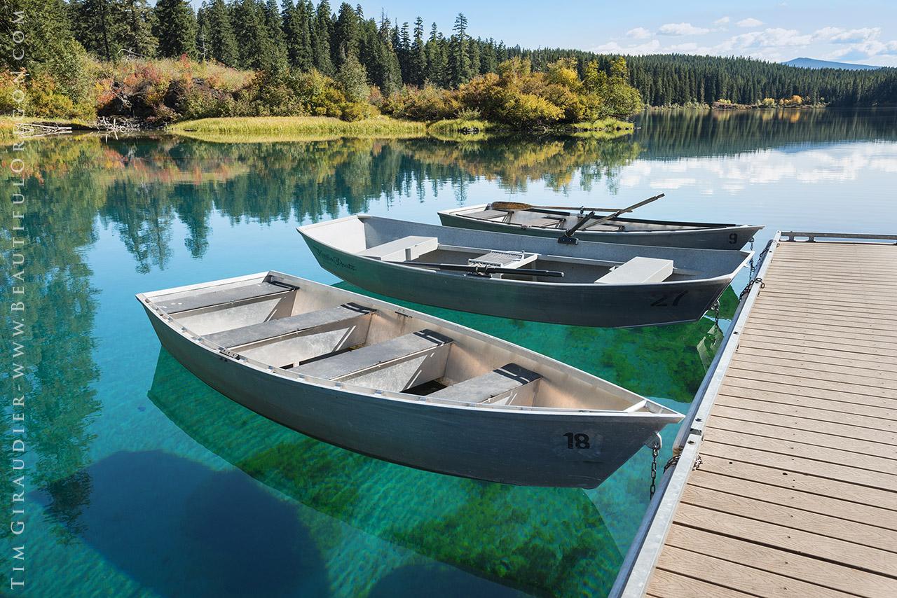 Clear lake rowboats mckenzie river oregon cascades for Clear lake oregon fishing