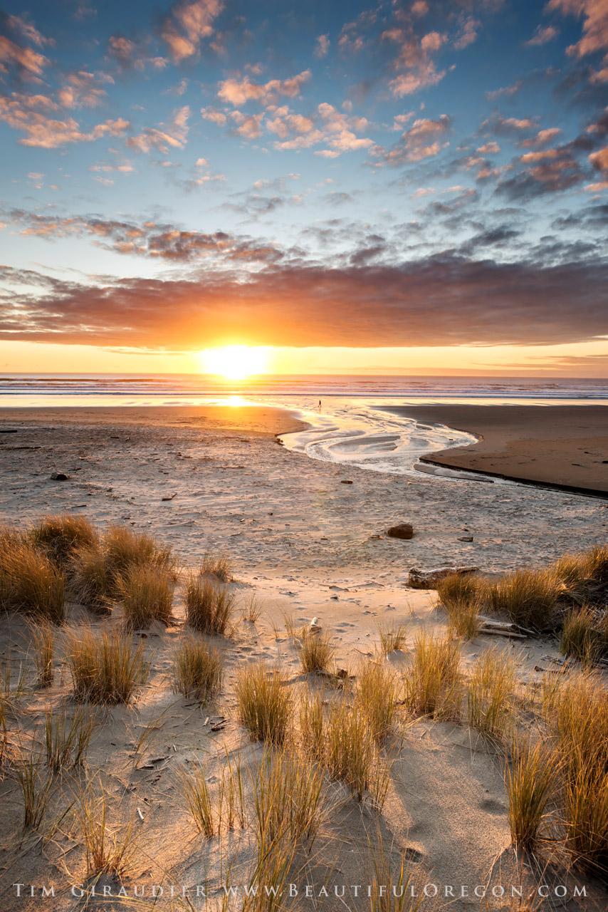 Neahkahnie Beach Manzanita Tillamook County Oregon Coast Sunset