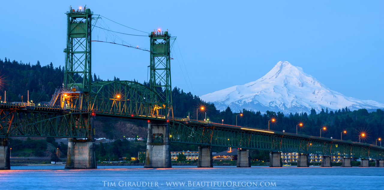 Hood River Bridge Mount Hood Columbia River 42616 3358