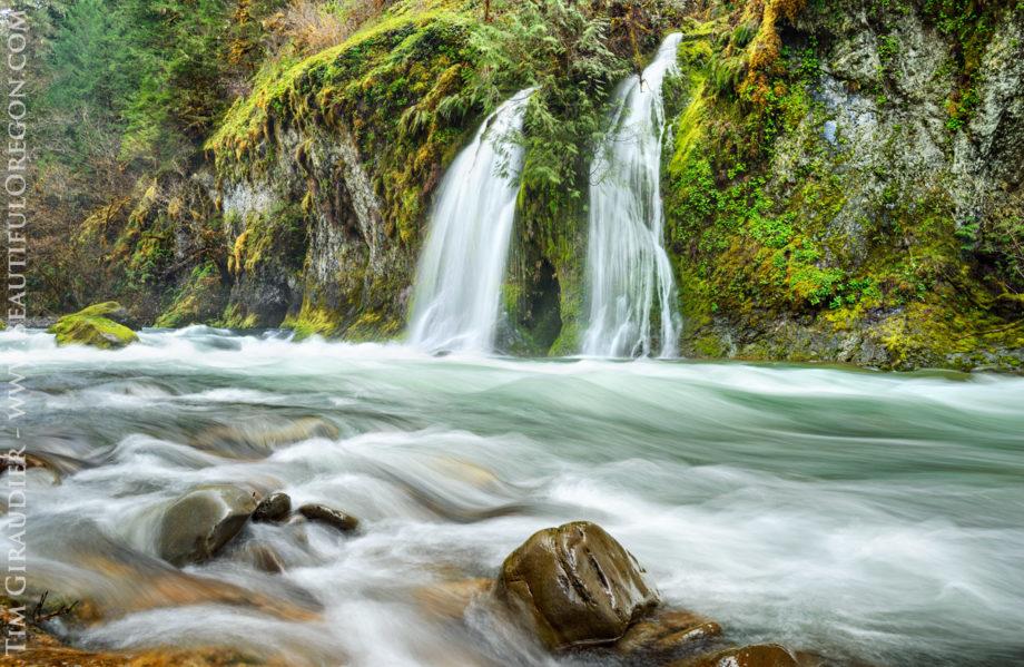 Salmon Creek Falls, Salmon Creek, Willamette National Forest, Oregon Cascades, landscpe photograhy, Lane County, waterfall.